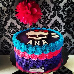 Bolo Monster High, Cumple Monster High, Monster High Birthday, Monster High Party, Birthday Cake Girls, 7th Birthday, Birthday Cakes, Birthday Ideas, Bolo Halloween
