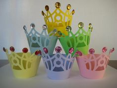 12 Princess Cupcake Wrappers by TwinMomMade on Etsy, $10.00