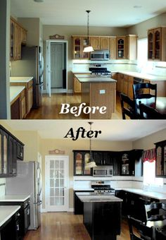 We Respray Kitchens, Furniture . We also resurface kitchen counter tops all at a fraction of the replacement cost Kitchen Cabinets Before And After, Black Kitchen Cabinets, Black Kitchens, Kitchen Countertops, New Kitchen, Studio, Refurbishment, Counter Tops, House