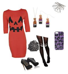 """""""Halloween"""" by cchealey ❤ liked on Polyvore featuring Boohoo, ASOS and Bernard Delettrez"""