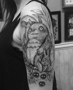 sketch totoro tatto
