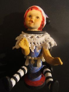 Assemblage art doll hummel ceramic mixed by jenuineserendipity, $55.00