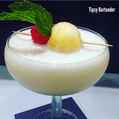 Charly Colada Cocktail - For more delicious recipes and drinks, visit us here: www.tipsybartender.com