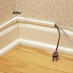 Great way to hide cords - Wiremold CordMate II Computer and Home Entertainment Cord Cover Kit, White tips-tricks-how-toos-and-just-plain-useful Home Improvement Projects, Home Projects, Deco Tv, Casa Clean, Home Entertainment, Home Hacks, Diy Hacks, Home Repair, Home Organization