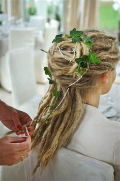 Natural Woman Wedding up-do Dreads!