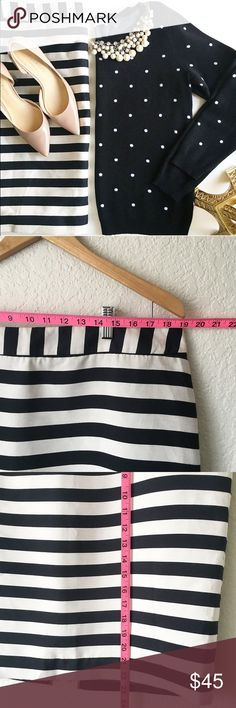 Stripped pencil skirt Reasonable offer are welcome ✔️   Never worn without tag👌🏻  Super cute💕  Follow my Instagram : @vintage.paris Worthington Skirts Pencil