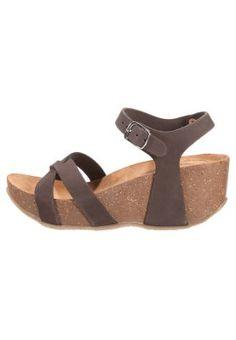 Sandalias de cuña - moro