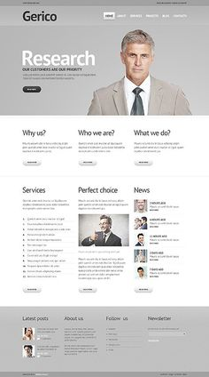 'Gerico Business' WordPress 3.x Template 43363 http://zign.nl/43363