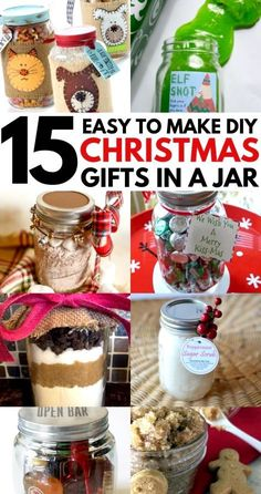 DIY Christmas gifts in a jar for coworkers, friends, family and your partner. These mason jar Christmas gifts for women and for men are the perfect cheap homemade gift for the Holidays.