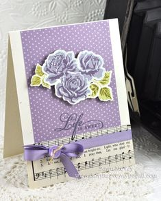 Life Is Sweet Card by Dawn McVey for Papertrey Ink (July 2012)