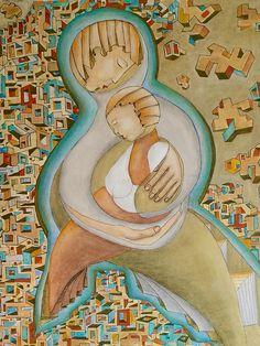 Maternidad 60x80 - acrilico su tela