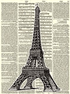CONFESSIONS OF A PLATE ADDICT: Linen and Burlap Vintage Eiffel Tower Pillow