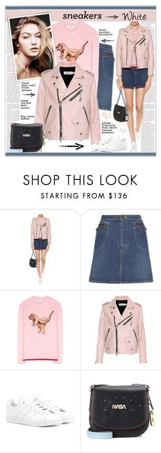 """""""So Fresh: White Sneakers"""" by alves-nogueira ❤ liked on Polyvore featuring Coach, Yves Saint Laurent, adidas Originals, sneakers, polyvoreeditorial and whitesneakers"""