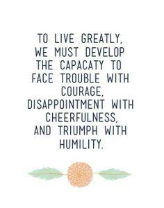 Humility...