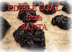 Edible Coal (Oreo cookie Krispies)