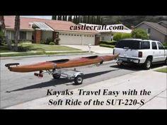 Kayak Trailer   CastleCraft   Single Canoe Trailer   Single Kayak Trailer   Trailers for canoes and kayaks