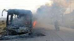 Aleppo battle: Rebels burn Syria evacuation buses