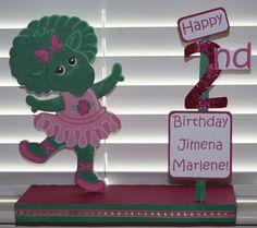 Barney Baby Bop Personalized Birthday Party Centerpiece | SerendipityCelebrations - Seasonal on ArtFire
