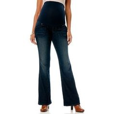 """Oh Baby Motherhood Maternity Bootcut Jeans Oh Baby Maternity Blue Jeans Bootcut Secret Belly Pant. Sizes: please order pre-pregnancy size. Oh baby size chart: small (4-6,) chest 36-37"""" , hips 38-39"""" ..(Inseam 31"""") medium : (8-10 ) chest 38-39"""" hips 40-41""""..( Inseam 32""""). Dark Wash. Cotton/Polyester/spandex. New with tags. Motherhood Maternity Other"""