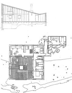 Muuratsalo Experimental House by Alvar Aalto, Finland, 1953 Architecture Drawings, Historical Architecture, Architecture Plan, Amazing Architecture, Architecture Details, Alvar Aalto, Jorn Utzon, Piscina Interior, Patio Plans