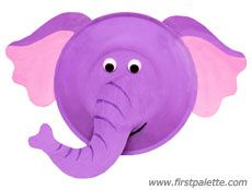Paper Plate Elephant Craft With Templates School Ideas