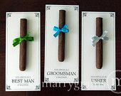 Groomsman Card, Cigar Card Will You Be My Groomsman, Your Service Is Requested as Best Man, Ring Bearer, Usher -Way to ask Groomsmen Wedding. $30.00, via Etsy.