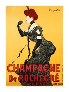 Global Gallery 'Champagne de Rochegre, ca. by Leonetto Cappiello Vintage Advertisement on Wrapped Canvas Size: Vintage French Posters, French Vintage, Vintage Advertisements, Vintage Ads, Graphics Vintage, Vintage Prints, Vintage Photos, Mison, Vintage Posters