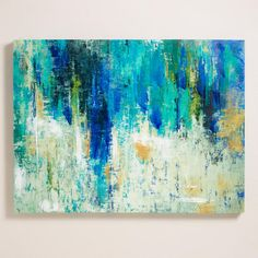 """""""Surface on the Lake"""" - World Market. I like this for my living room. I'm so picky about art - but I like this guy."""