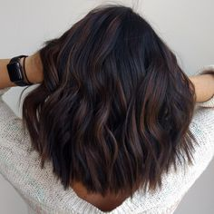 Top 100 hair color trends for brunettes 2019 Page 04 # SummerNails . - Top 100 hair color trends for brunettes 2019 page 04 # SummerNails … – Haaris – - Hair Color Dark, Brown Hair Colors, Dark Fall Hair Colors, Hair Color Ideas For Black Hair, Dark Ombre Hair, Marron Hair Color, Dark Violet Hair, Burgundy Hair, Hair Color And Cut