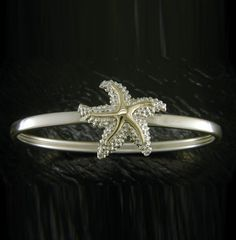Steven Douglas 14K and Sterling Silver Starfish Bangle
