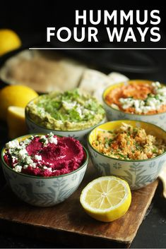 Hummus Recipes 4 Ways: Avocado, Beet, Original & Roasted Red Pepper Vegan Appetizers, Appetizer Recipes, Snack Recipes, Cooking Recipes, Potato Recipes, Dinner Recipes, Healthy Vegetable Recipes, Healthy Snacks, Vegetarian Recipes