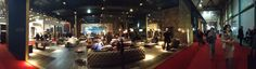 #panoramic view of the edge of Arketipo's stand at #iSaloni Milan featuring the incredible Windsor #sofa in nubuck. Available from UBER-interiors.com