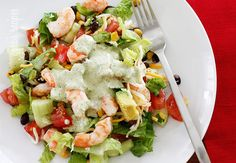 Mexican Shrimp Cobb Salad! Made this last night with balsamic dressing.