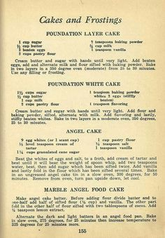 Vintage cake recipes