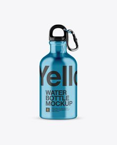 330ml Steel Sport Bottle With Carabiner Mockup - Front View (Preview)