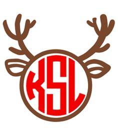 DIY Monogram Christmas Reindeer Iron On by VinylDezignz on Etsy