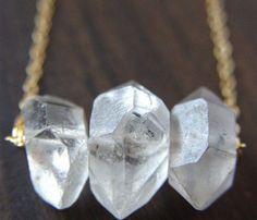 Herkimer Trio Necklace