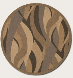 Couristan Recife Seagrass/Natural-Black Indoor/Outdoor Round Rug - - Round Rugs - Area Rugs by Shape - Area Rugs