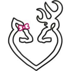 Browning Heart Love Outline