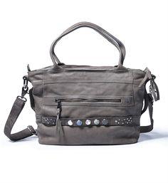 Noosa Amsterdam Bag Classic Shopper. Deze Noosa shopper / tas kan als schoudertas, maar ook als handtas gebruikt worden, met ruimte voor 5 chunks - Grey - NummerZestien.eu
