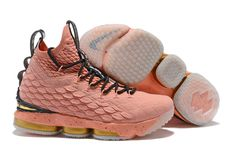 "adfd556abfc4d0 2018 Nike LeBron 15 ""All-Star"" Rust Pink Metallic Gold-Black"