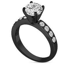 Vintage Black Diamond Engagement Rings