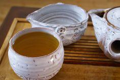 Green tea and Hagi Yaki