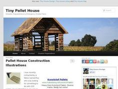 Pallet House Plans | ... Tiny Pallet House | Disaster Preparedness & Emergency Shelter Plans    #LDSEmergencyresources #Disasterplanning