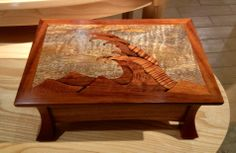 Marquetry inlaid box made with Koa and other Hawaiian hardwoods.  Only at our stores and online www.martinandmacarthur.com