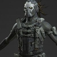 Epic Games Unreal Tournament Character : Taye  Art Direction : Chris Perna Model : Mike Kime  Created this Taye model for UT (plus 3 hats) in a short turnaround time.