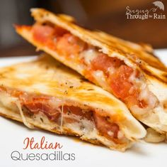 Italian Quesadillas - A twist on the traditional quesadilla, this quick and easy recipe is the perfect meal for lunch or dinner.