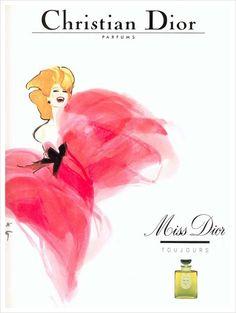 Dior illustration ad by Rene Gruau