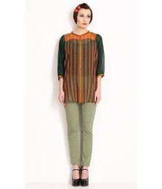 Nida Mehmood Green Striped Handloom Oversized Top, http://www.snapdeal.com/product/nida-mehmood-green-striped-handloom/98045906