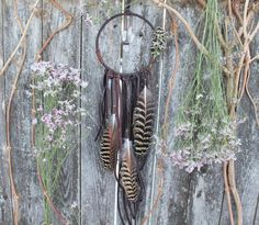 Wildflower Dream Catcher Large Dream by OfEarthAndSeaDesigns